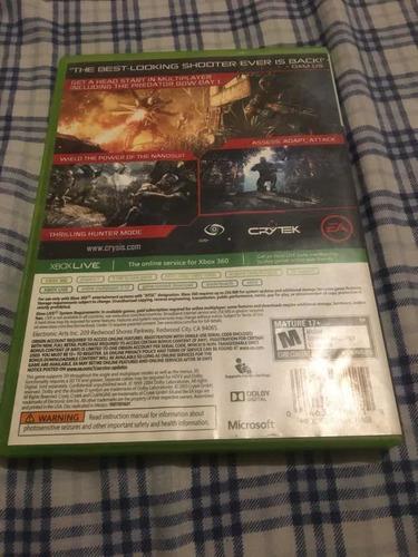 crisis 3 juego de xbox 360