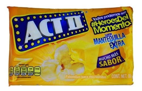 crispetas para microondas actii mantequil - kg a $8