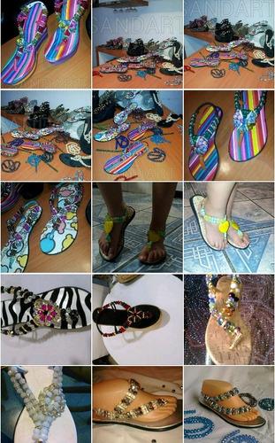 cristal #10 pak 25 tiras para elaboracion sandalia artesanal