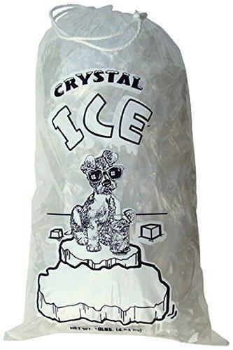 Cristal Clear Plástico Hielo Bolsas Con Algodón Dibujar Ca 1982