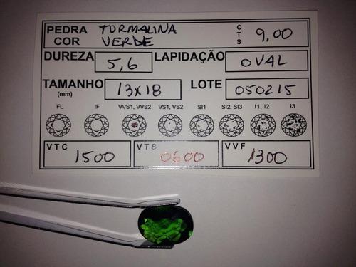 cristal color verde turmalina calibrada 9ct