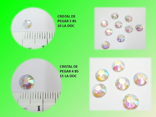 cristal de pegar 4mm