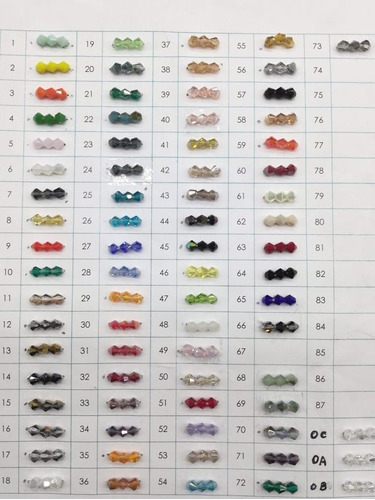 cristal de roca bicono 4mm colores 104u