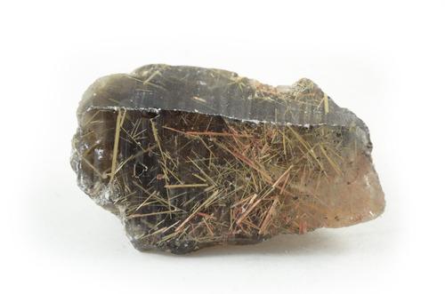 cristal fumê com rutilo dourado em bruto- pb29