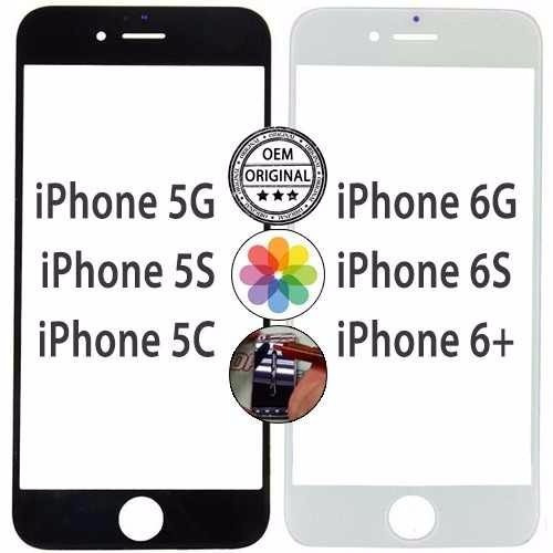 cristal iphone 6s y 6s plus  blanco y negro $395 oem certif