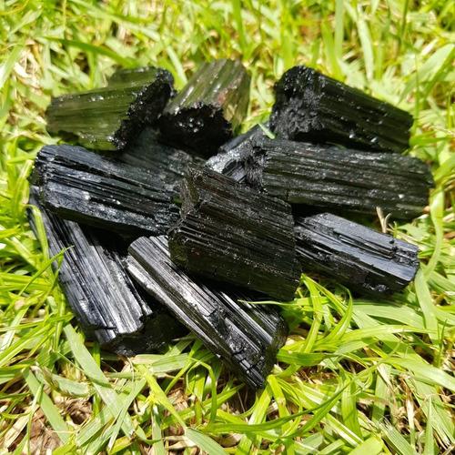 cristal - kit 100g - turmalina negra bruta