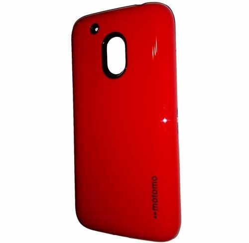cristal + protector case motorola g4 play funda rojo