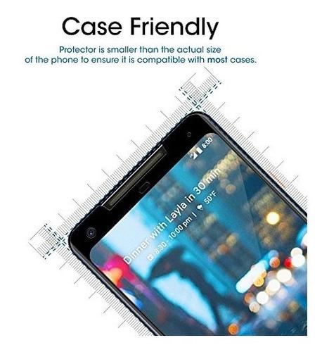 cristal protector de pantalla -  amfilm - google pixel 2 xl