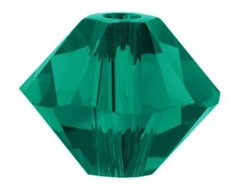 cristal swarovski 4 mm (50 unidades) esmeralda. bisuteria