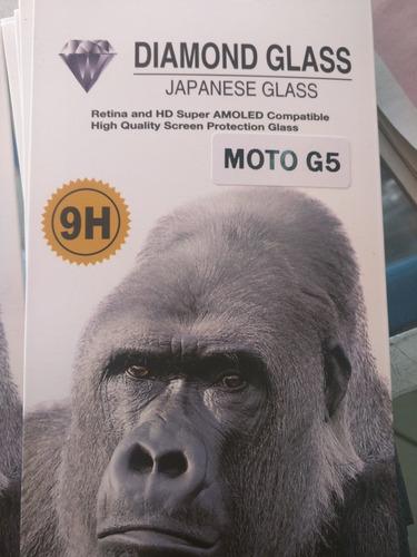 cristal templado 9h para moto g5.