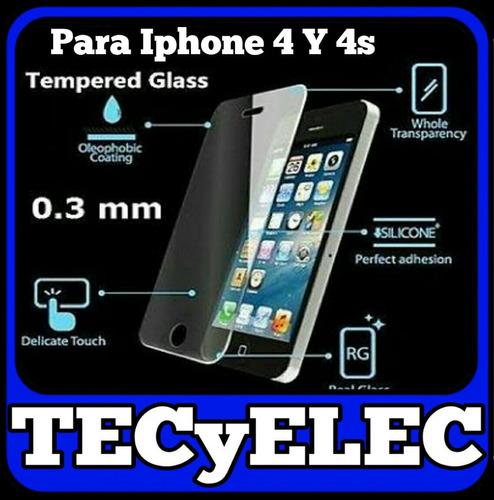 cristal templado iphone 4 y 4s