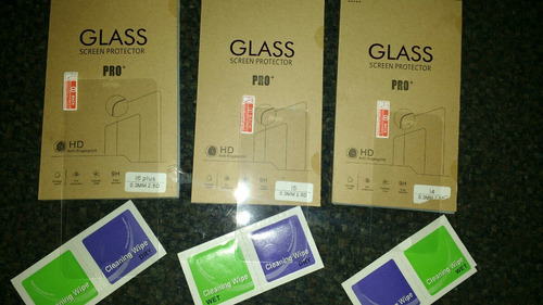 cristal templado iphone's todo los modelos.