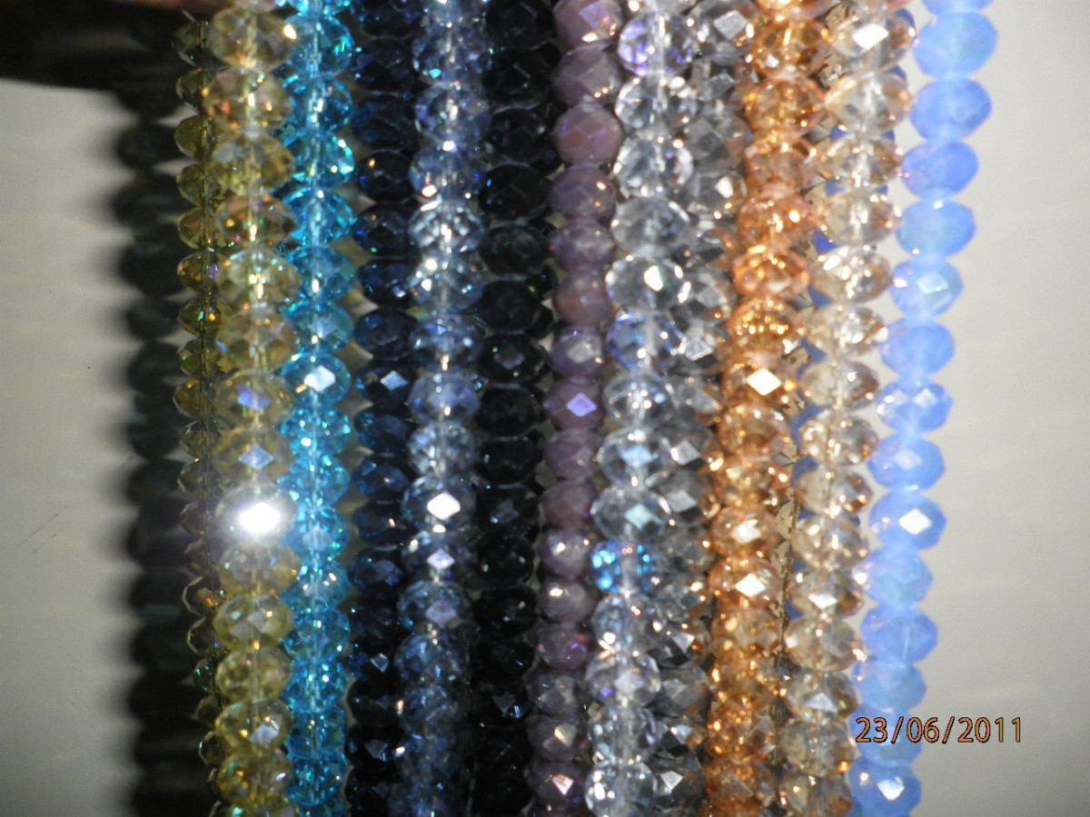 9d3774e9a3f4 Cristal Tira De Piedra 8 Y 6mm Oferta -   15.00 en Mercado Libre