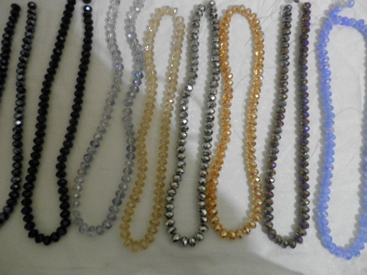 cristal tira para rosarios o pulseras variedad colores barat