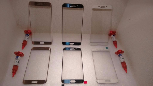 cristal touch samsung edge plus + pegamento uv el mejor.