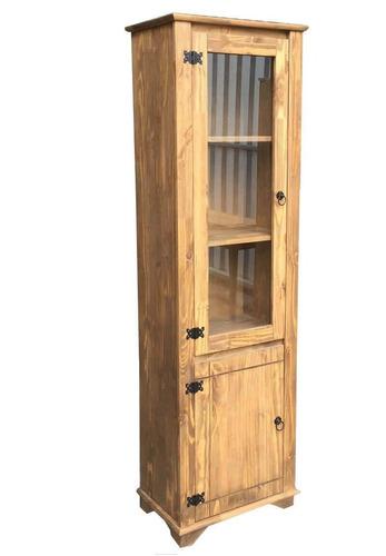 cristaleira 2 portas de madeira maciça móveis rio negrinho