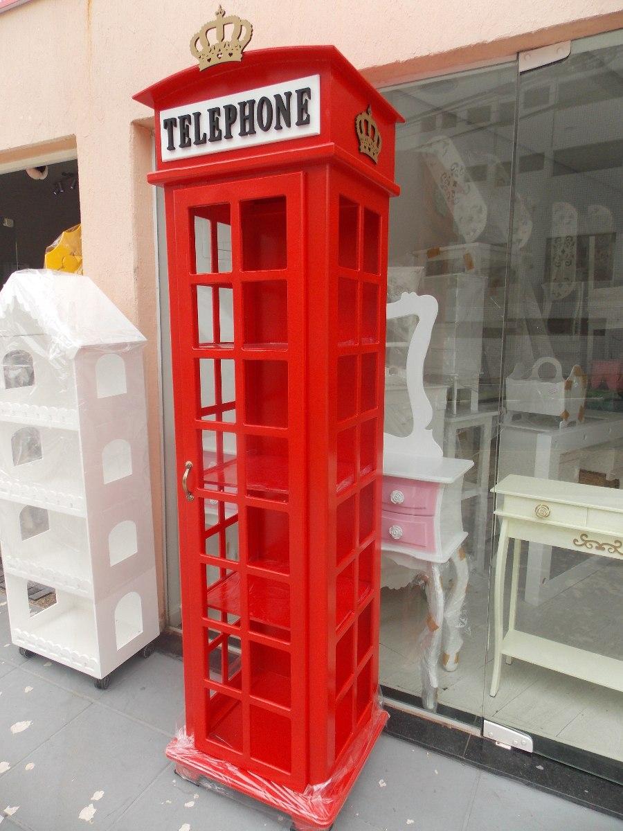 cristaleira cabine telef nica de londres r em mercado livre. Black Bedroom Furniture Sets. Home Design Ideas