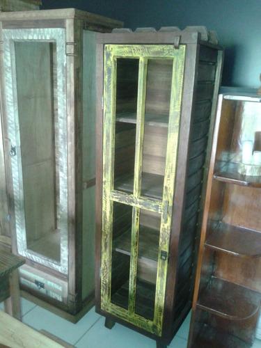 cristaleira madeira de demolição meu rústico móveis