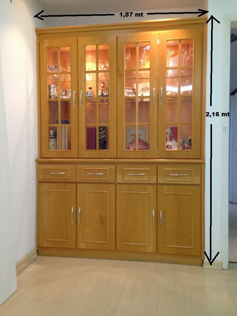 Cristaleira M Vel Arm Rio Estante Sala Prateleiras Vidro Usa R  -> Armario Estante Para Sala De Jantar