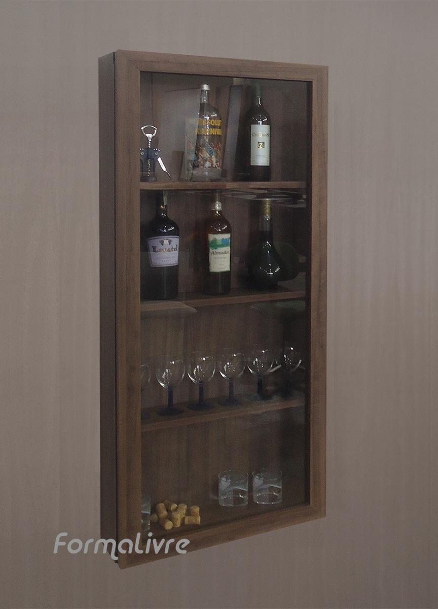 #474658 Cristaleira Suspensa De Parede Adega Bar Sala Estar  864x1200 píxeis em Bar Movel Sala Estar Moderno