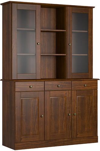 cristalero 5 puertas madera comedores divino