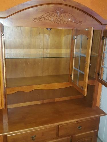 cristalero nictoria roble modular madera maciza!!!