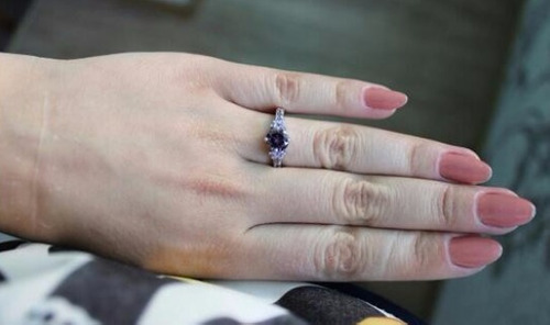 cristales plata anillo