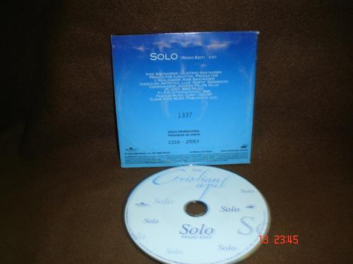 cristian castro  - cd single - solo