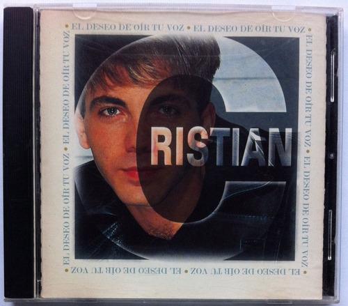 cristian castro. el deseo de oir tu voz. cd original, usado