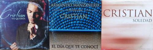 cristian castro set de 3 cd's sencillos mexicanos, raros 3x1