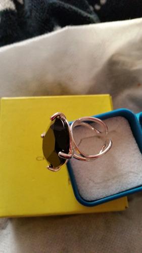 cristian lay, anillo bisuteria fina baño plata adaptable,oni