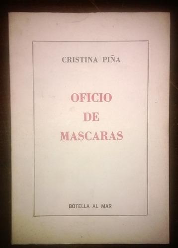 cristina piña oficio de mascaras botella al mar 1978 firmado