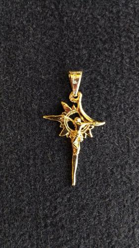 cristo astral oro 10 kilates - protección y suerte en todo