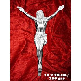 Cristo Crucificado De Aluminio (28cm)