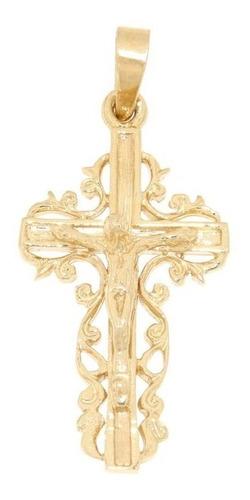 cristo de oro 14k dije cruz estilo virreinato