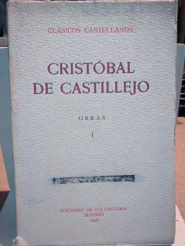 cristobal de castillejo - obras - 4 t - clásicos castellanos