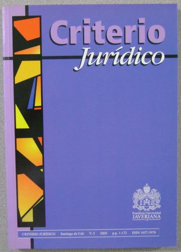 criterio jurídico 2005 - universidad javeriana