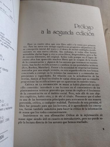 crítica de la información de masas florence toussaint