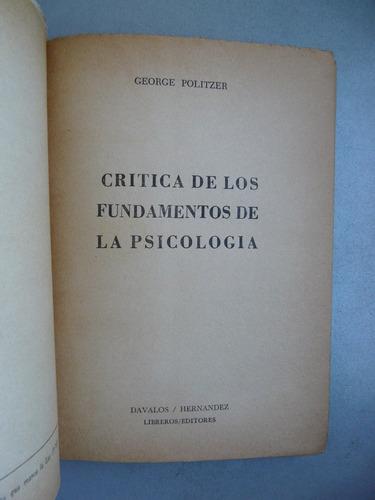 crítica de los fundamentos de la psicología y el psicoanális