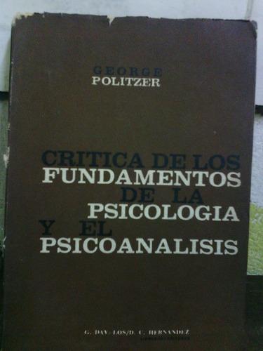 critica de los fundamentos de la psicologia y el psicoanalis