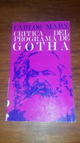 critica del programa de gotha por marx