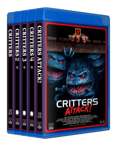 critters saga completa bluray colección 5 peliculas latino