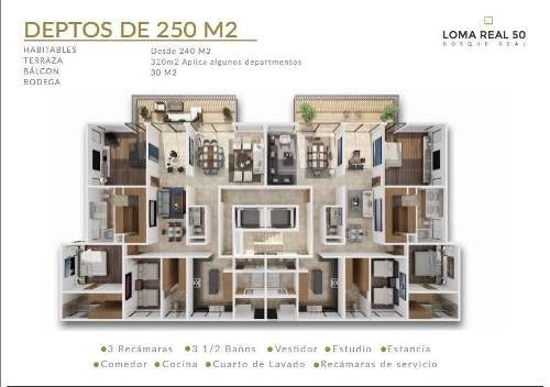 (crm-136-2278)  loma real 50 departamento en bosque real
