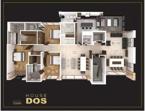 (crm-136-2668)  house, golden town, tecamachalco