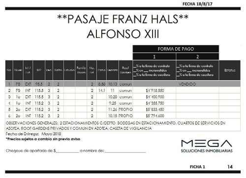 (crm-1947-1407)  franz hals, alfonso xiii, departamento en venta