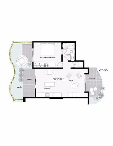 (crm-2658-2016)  departamento en venta en tulum