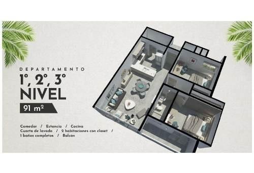 (crm-2658-3482)  departamentos en venta en cancun
