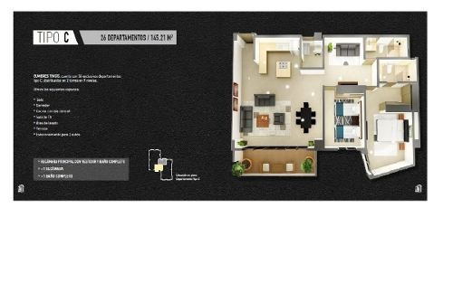 (crm-2658-3830)  departamentos en venta en cumbres cancun