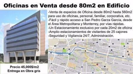 (crm-2895-1102)  oficina en venta col. res san agustín 1° sect.