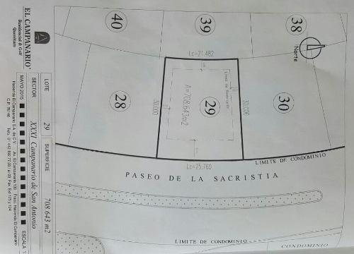 (crm-3486-474)  excelente terreno en venta en el campanario